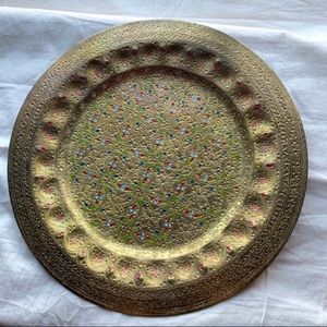 Vintage 90s Hammered Wall Hanging Metal Home Decor